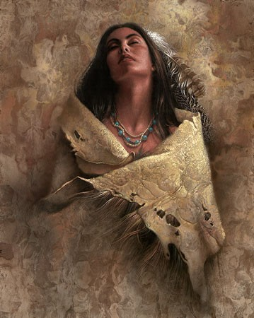 Lee Bogle At Peace Giclee On Canvas
