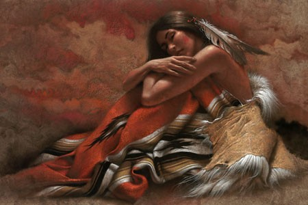 Lee Bogle At Rest Giclee On Canvas
