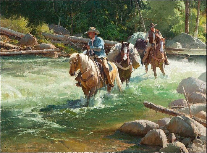 Bill Anton River Runners Giclee On Canvas Artist Proof