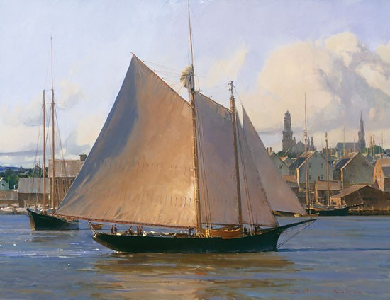 Christopher Blossom Afternoon Arrival Gloucester Canvas