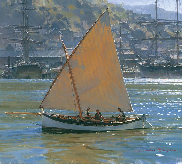 Christopher Blossom Below Telegraph Hill SMALLWORK EDITION ON Canvas