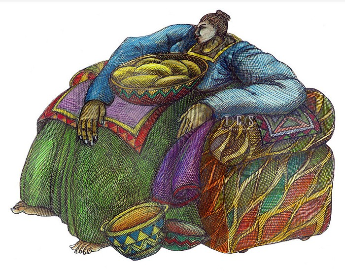 Charles Bibbs Big Mama's Chair #2 Giclee