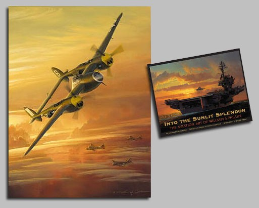 William Phillips Into the Sunlit Splendor Avia COLLECTOR BOOK WITH Canvas