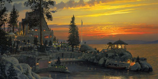 William Phillips An Evening to Remember at Thunderbird Lodge, Lake Tahoe Canvas