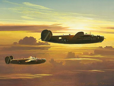 William Phillips Dawn of the Liberators Giclee On Canvas