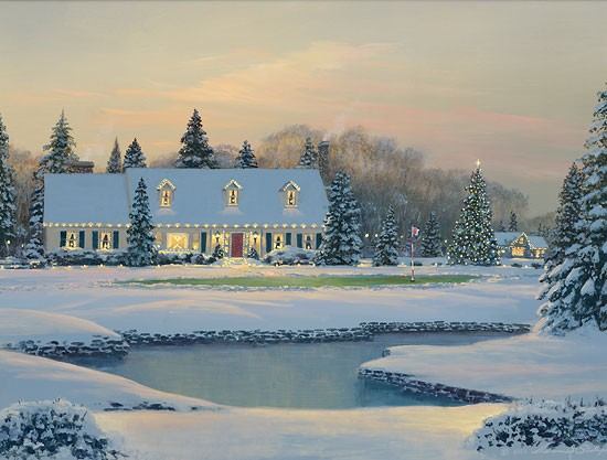 William PhillipsChristmas on the EighthGiclee On Canvas
