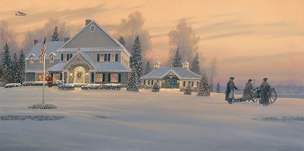 William Phillips Christmas Traditions at Watchman Hill Inn Canvas