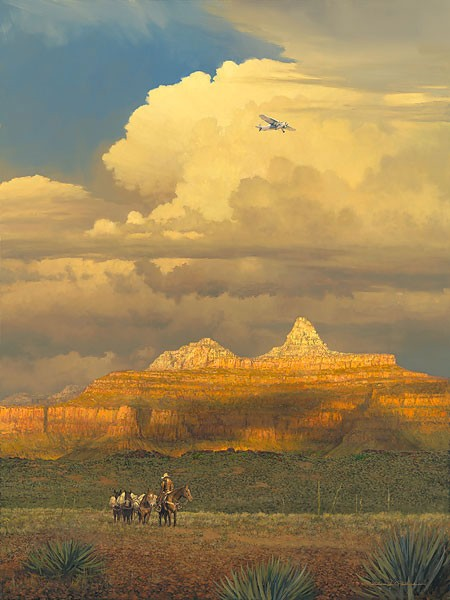 William Phillips New Sounds in an Ancient Canyon Canvas