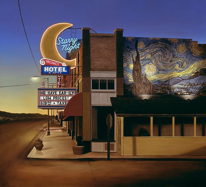 Ben Steele Starry Night Hotel Canvas