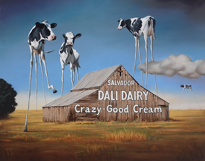 Ben Steele Dali Dairy Canvas