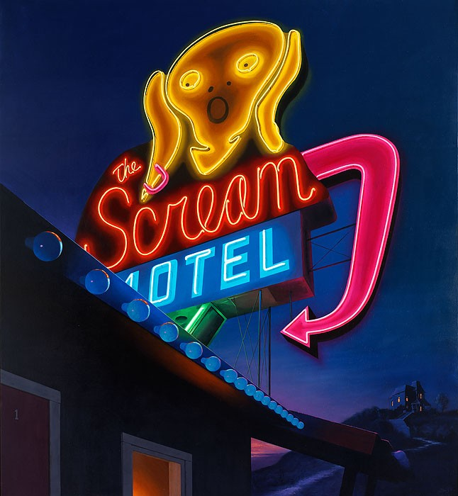 Ben Steele Scream Motel Canvas