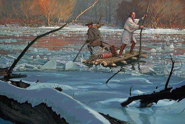 John BuxtonWashingtons Crossing 1753Canvas