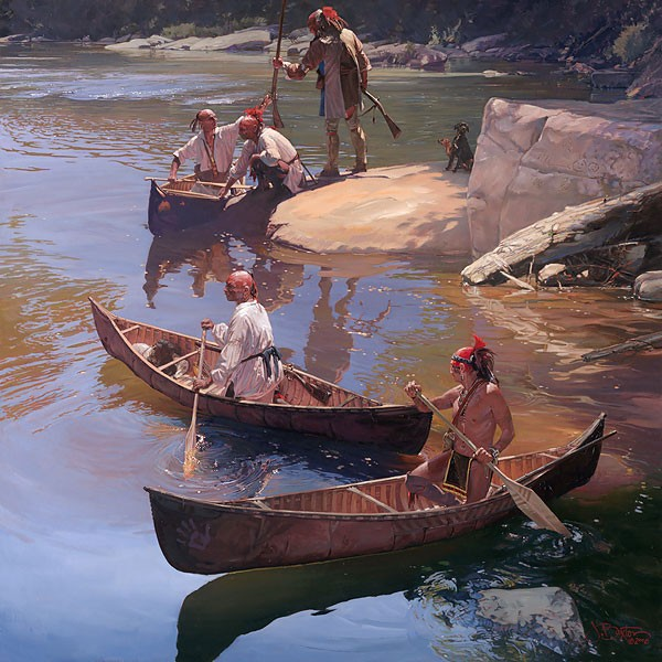 John Buxton The Agile Bark Canoe Canvas