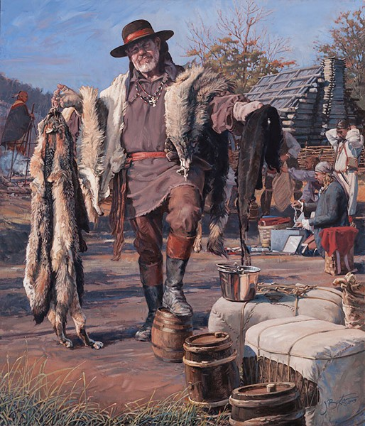 John Buxton The Fur Trader Canvas