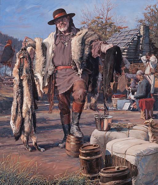 John BuxtonThe Fur TraderCanvas