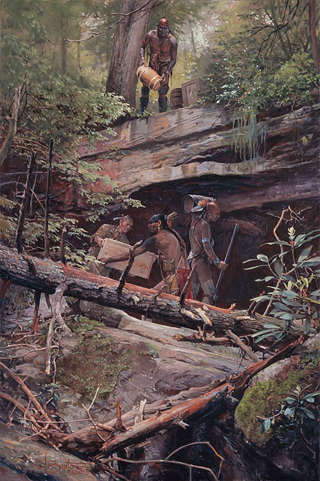 John Buxton A Secret Cache Canvas
