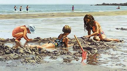 Tom SierakBeach Girls Canvas Giclee