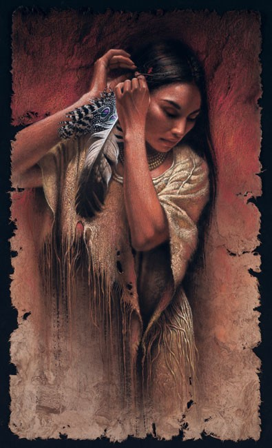 Lee Bogle Before The Ceremony Artist Proof Hand Enhanced Giclee On Canvas