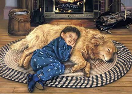 Tom Sierak Boy's Best Friend Canvas Giclee