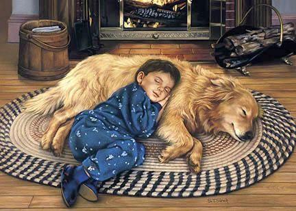 Tom SierakBoy's Best Friend Canvas Giclee
