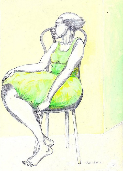 Charles Bibbs A Lady & A Chair Giclee On Paper