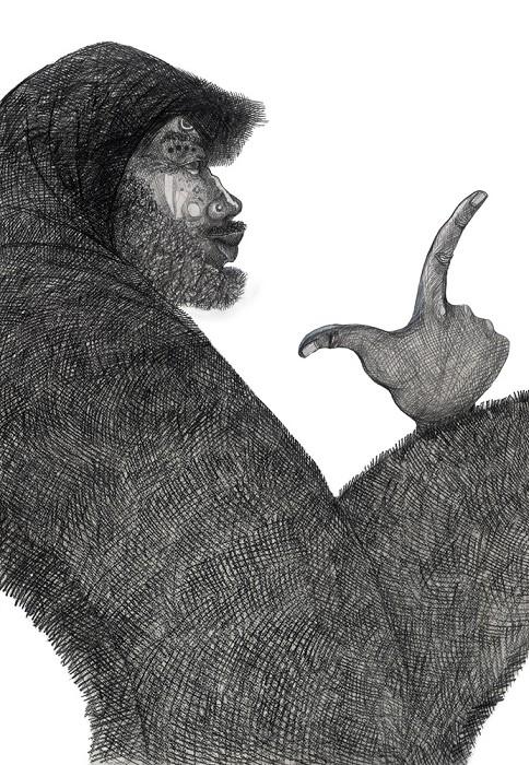 Charles BibbsBagman Storyteller Artist Proof RemarqueGiclee On Paper Artist Proof Remarque