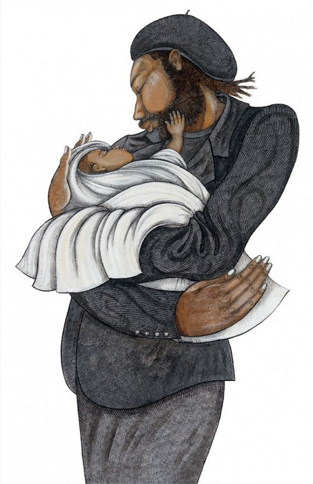 Charles Bibbs Black Love Giclee On Paper