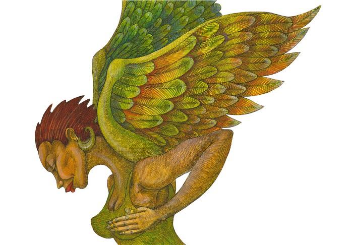 Charles BibbsThe Green AngelGiclee On Paper