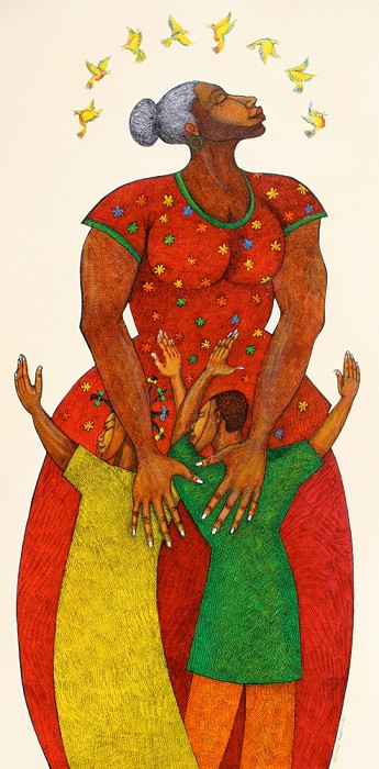 Charles Bibbs Mama Remarque Giclee On Paper