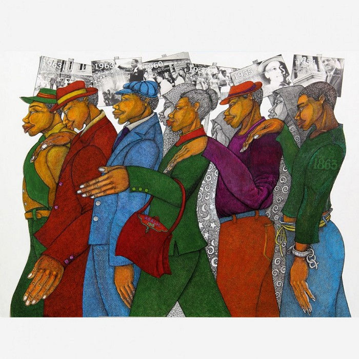 Charles Bibbs Marching In The Spirit Giclee On Paper