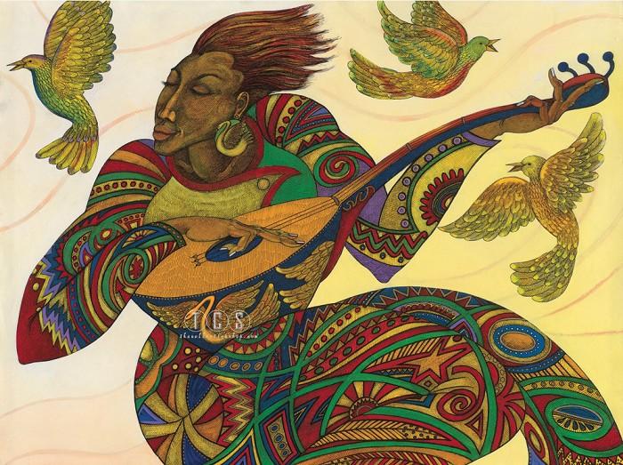 Charles BibbsThe Music Maker 3 Giclee On Canvas