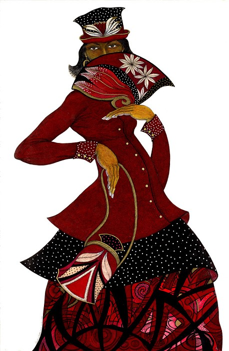 Charles Bibbs SISTER IN RED GICLEE