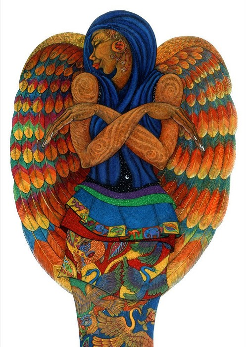 Charles Bibbs The Earth Angel 2 Hand Enhanced Giclee On Paper