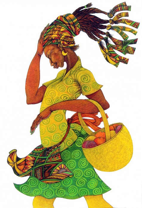 Charles Bibbs The Yellow Basket Giclee On Paper