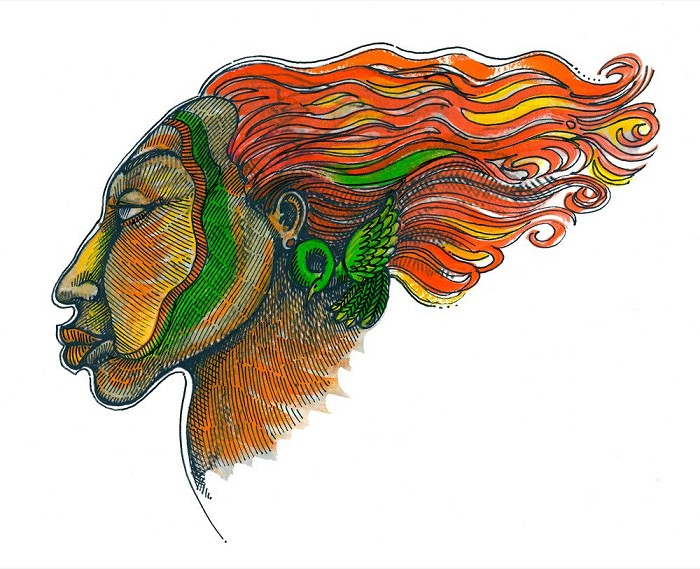 Charles Bibbs Windface Series 1 Giclee On Paper