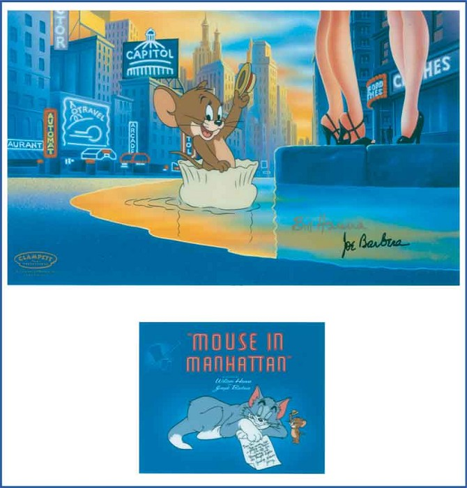 Hanna & Barbera Mouse in Manhattan Hand-Painted Limited Edition Cel