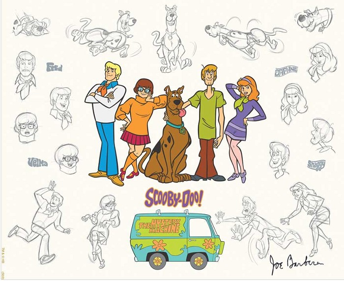 Hanna & Barbera Mystery Gang Model Sheet Hand-Painted Limited Edition Cel