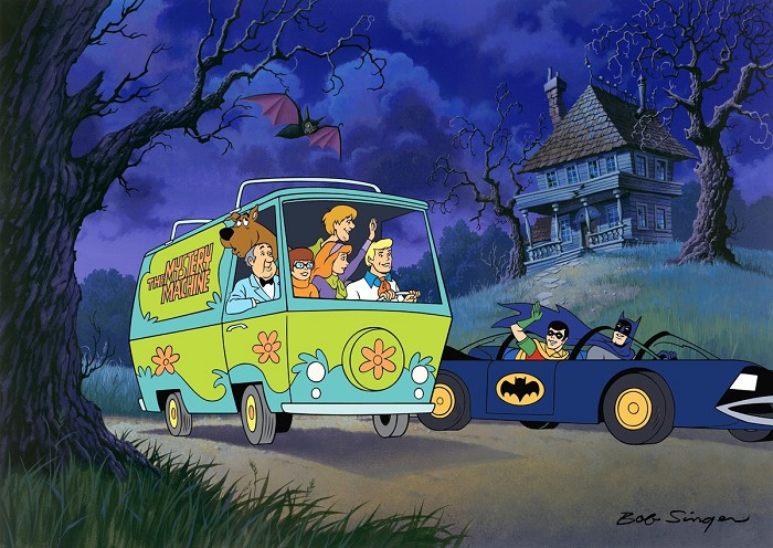 Hanna & Barbera Scooby-Doo Meets Batman & Robin Hand-Painted Limited Edition Cel