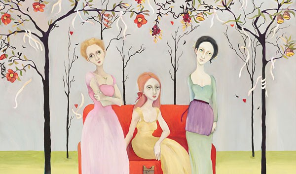 Cassandra Barney Three Graces Canvas