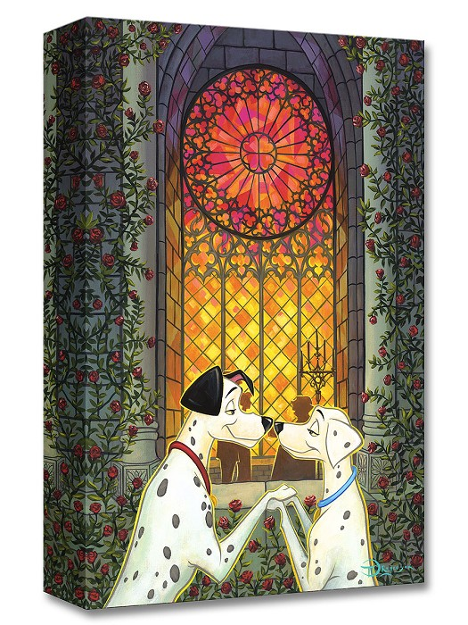 Tim Rogerson One Hundred And One Roses From One Hundred and One  Dalmations Gallery Wrapped Giclee On Canvas