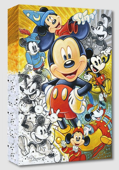 Tim Rogerson 90 Years of Mickey Mouse Gallery Wrapped Giclee On Canvas