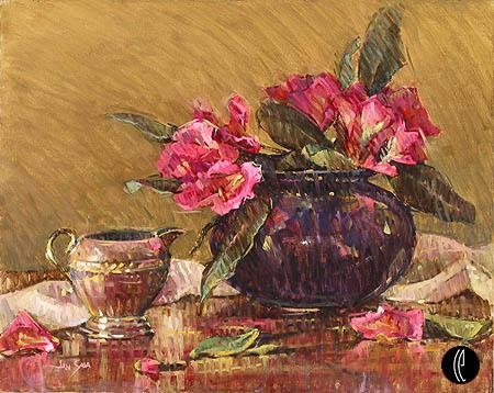 Jan Saia Pink Rhododendrons