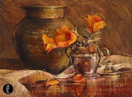 Jan SaiaThree Poppies