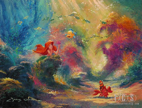James Coleman Dreaming Ariel The Little Mermaid Giclee On Canvas