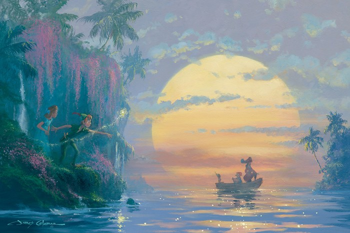 James Coleman Hook Discovered Peter Pan Giclee On Canvas