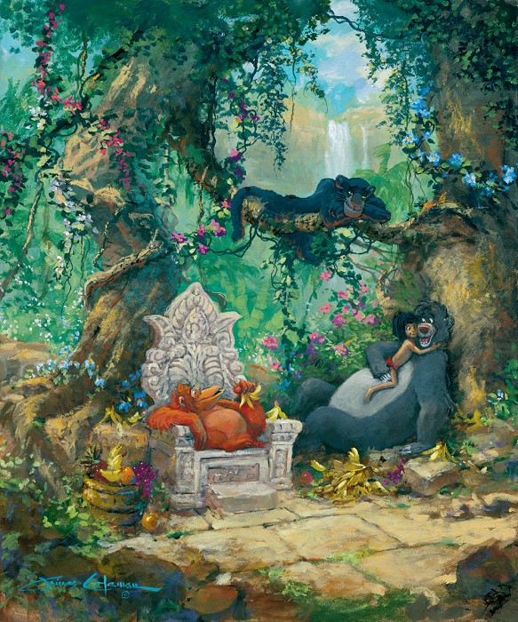 James ColemanI Wanna Be Like You The Jungle BookGiclee On Canvas