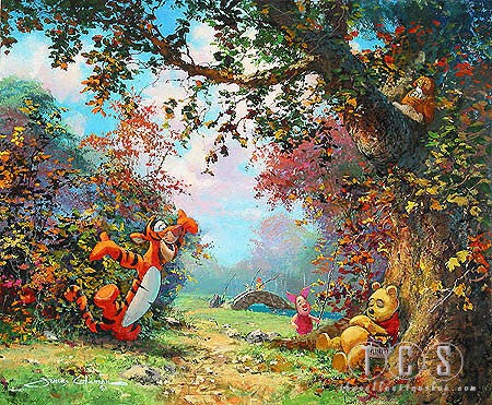 James ColemanPooh's Afternoon Nap Winnie The PoohGiclee On Canvas