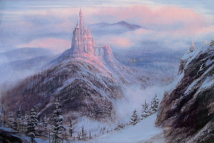 Peter Ellenshaw Mystical Kingdom Of The Beast - From Disney Beauty and The Beast Giclee On Canvas