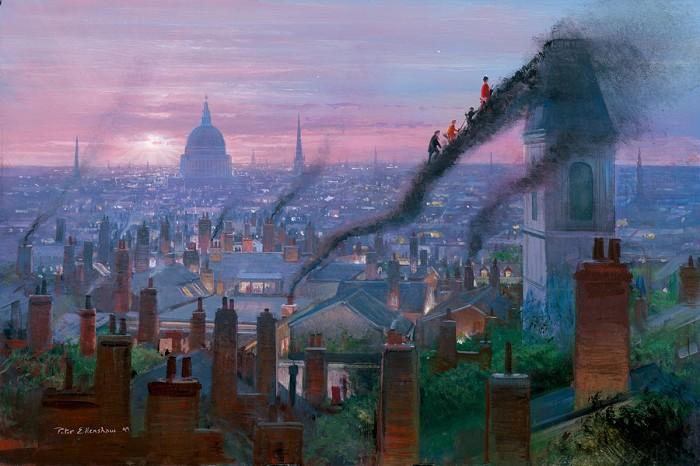 Peter EllenshawSmoke StaircaseGiclee On Canvas