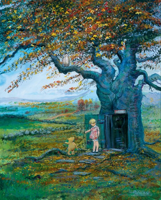 Peter / Harrison Ellenshaw Fall In The 100 Acre Wood Winnie The Pooh Seriagraph on Canvas